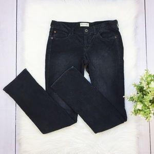 Madewell Dark Gray Corduroy Straight Leg Pants #95